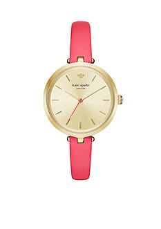 Kate Spade Women's Holland Gold-Tone and Pink Watch