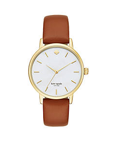 kate spade new york Women's Metro Cognac Gold-Tone Watch