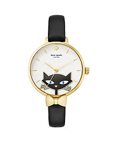 kate spade new york Women's Novelty Black Cat Watch