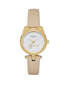 kate spade new york Women's Mini Metro Three Hand 'Meow' Watch