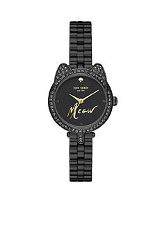 kate spade new york Women's Mini Gramercy Black Novelty Cat Watch
