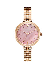 kate spade new york Women's Holland Three Hand Rose Gold-Tone Watch