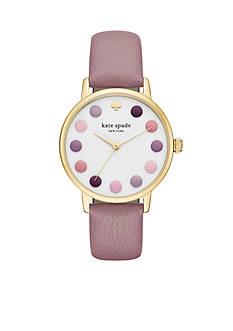 kate spade new york Women's Metro Three Hand Purple Dot Watch