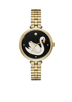 kate spade new york Women's Holland Swan Gold-Tone Watch