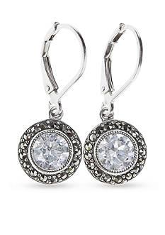 Judith Jack Sterling Silver Cubic Zirconia Drop Earrings