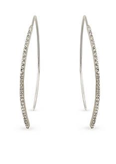 Judith Jack Sterling Silver Crystal Linear Earrings