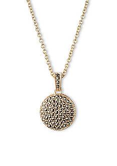 Judith Jack Gold-Tone Reversible Circle Pendant Necklace