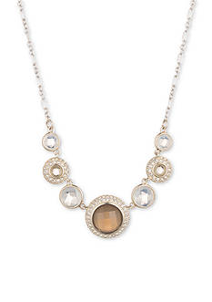 Judith Jack Sterling Silver Opal Crystal Statement Necklace