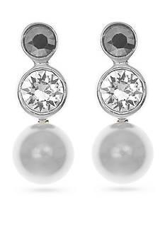 Judith Jack Sterling Silver Pearl Triple Drop Earrings