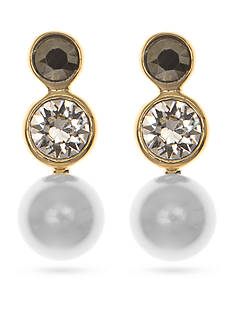 Judith Jack Gold-Plated Sterling Silver Pearl Triple Drop Earrings