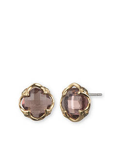 Judith Jack Gold Plated Sterling Silver Antique Pink Stud Earrings