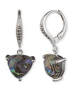 Judith Jack Sterling Silver Abalone Drop Earrings