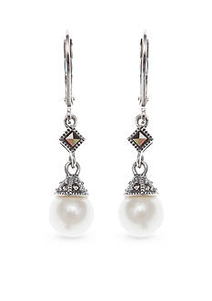 Judith Jack White Pearl Drop Earrings