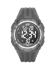 Skechers Men's Black Silicone Digital Watch