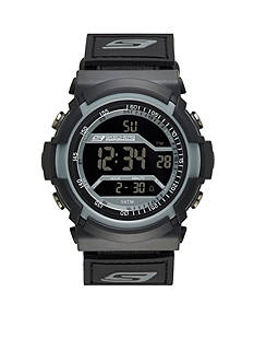 Skechers Men's Black Silicone Digital Watch