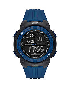 Skechers Men's Voorhees Digital Chronograph Blue and Black Watch