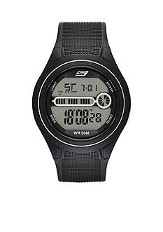 Skechers Men's Gas Lamp Black Silicone Watch