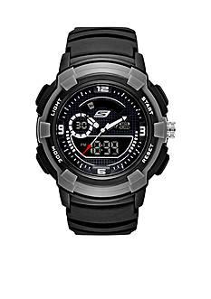 Skechers Men's Ana-Digi Black Silicone Watch