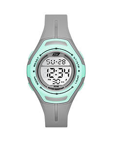 Skechers Women's Gray Silicone and Mint Digital Watch