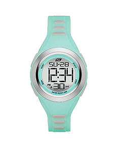 Skechers Women's Mint Green Silicone Digital Watch
