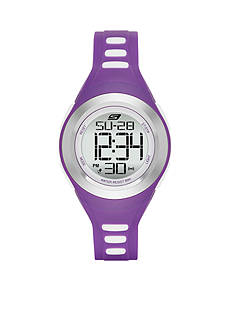 Skechers Women's Purple Silicone Digital Watch