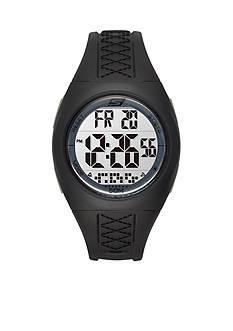 Skechers Women's Poinsettia Black Silicone Strap Watch
