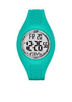 Skechers Women's Poinsettia Mint Green Silicone Strap Watch