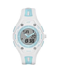 Skechers Women's Liberty Digital Blue Silicone Strap Watch