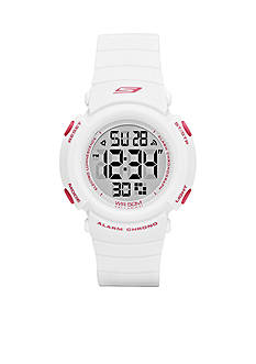 Skechers Women's Fisher Silicone Digital Watch