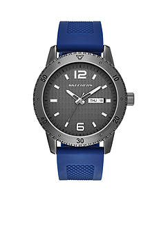 Skechers Men's Redondo Three-Hand Navy Silicone Strap Watch