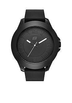 Skechers Men's Black Silicone Three-Hand Watch