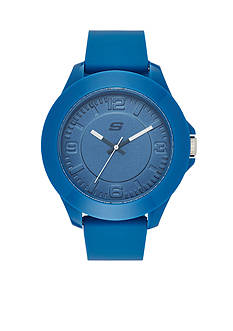 Skechers Men's Blue Silicone Three-Hand Watch