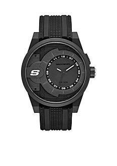 Skechers Men's Three-Hand Black Silicone Watch