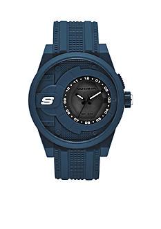 Skechers Men's Three-Hand Navy Silicone Watch