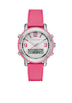 Skechers Women's Pink Silicone Ana-Digi Watch
