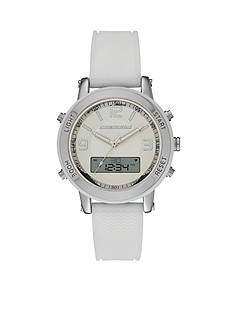 Skechers Women's White Silicone Ana-Digi Watch