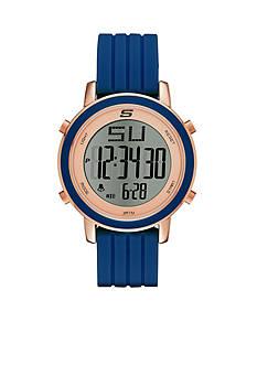 Skechers Women's Westport Digital Chronograph Navy Silicone Strap Watch