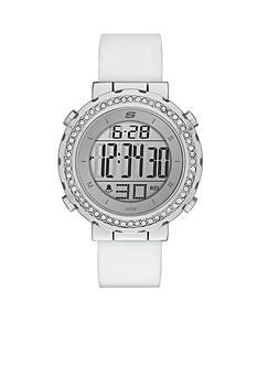 Skechers Women's Faymont Digital Chronograph Silver-Tone Watch