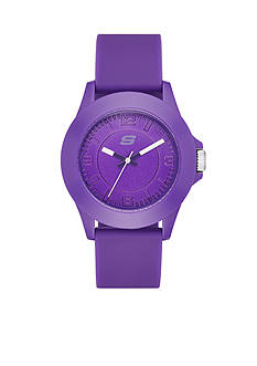 Skechers Women's Purple Silicone Watch