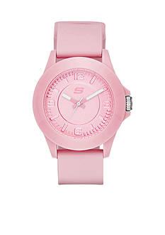 Skechers Women's Rosencrans Three-Hand Pink Silicone Strap Watch