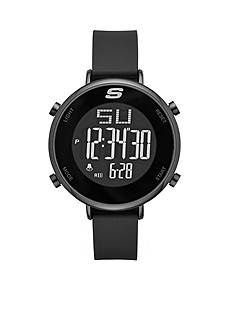 Skechers Men's Magnolia Digital Black Silicone Strap Watch
