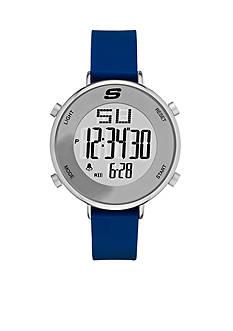 Skechers Men's Magnolia Digital Blue Silicone Strap Watch