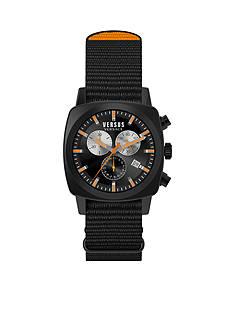 VERSUS VERSACE Men's Orange Accent Black Chronograph Watch