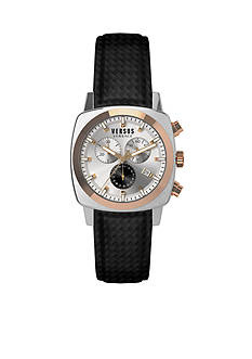 VERSUS VERSACE Men's Rose Gold-Tone Accent Stainless Steel Chronograph Watch
