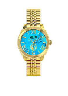 VERSUS VERSACE Women's Gold-Tone Blue Watch
