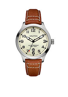 Nautica Men's BFD 101 Cognac Watch