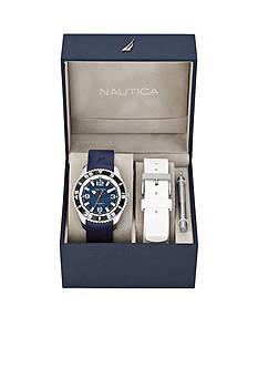 Nautica Men's NST 07 Navy and White Watch Box Set