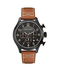 Nautica Men's BFD 101 Black Classic Chronograph Watch