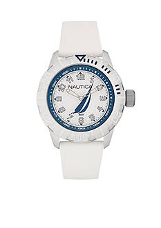 Nautica Men's White NSR 100 J-Class Watch