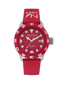 Nautica Men's Red Silicone Watch